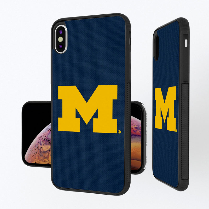 Michigan Wolverines Solid iPhone XS Max Bump Case