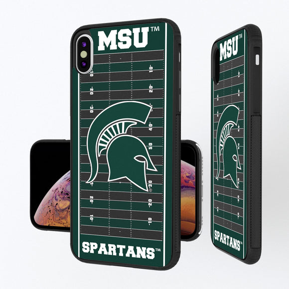 Michigan State Spartans Football Field iPhone XS Max Bump Case