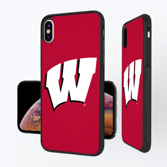 Wisconsin Badgers Solid iPhone XS Max Bump Case
