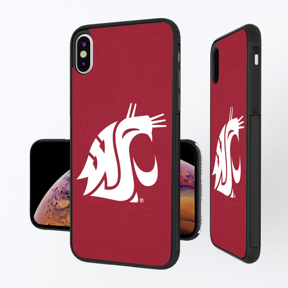 Washington State Cougars Solid iPhone XS Max Bump Case