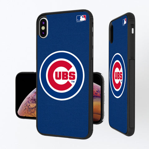Chicago Cubs Cubs Solid iPhone XS Max Bump Case