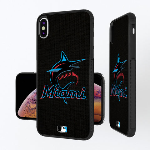 Miami Marlins Marlins Solid iPhone XS Max Bump Case
