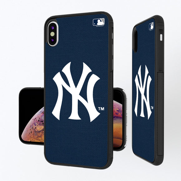 New York Yankees Yankees Solid iPhone XS Max Bump Case