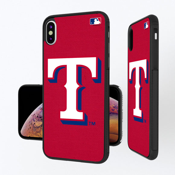 Texas Rangers Rangers Solid iPhone XS Max Bump Case