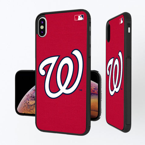 Washington Nationals Nationals Solid iPhone XS Max Bump Case