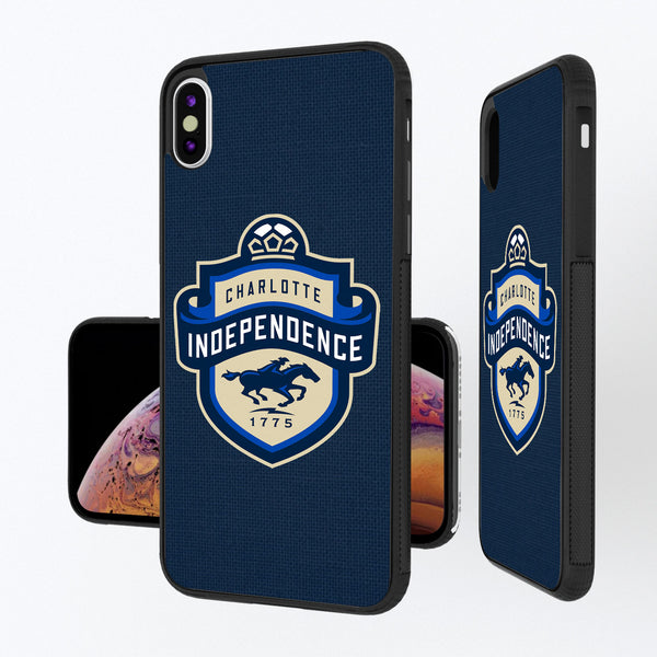 Charlotte Independance Diagonal Stripe iPhone XS Max Bump Case