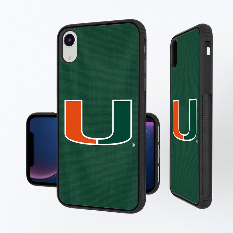Miami Hurricanes Solid iPhone XR Bump Case