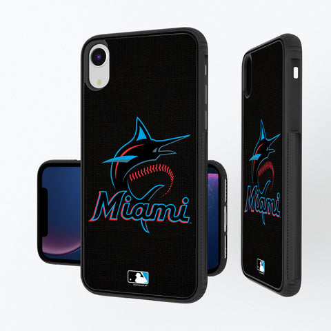 Miami Marlins Marlins Solid iPhone XR Bump Case