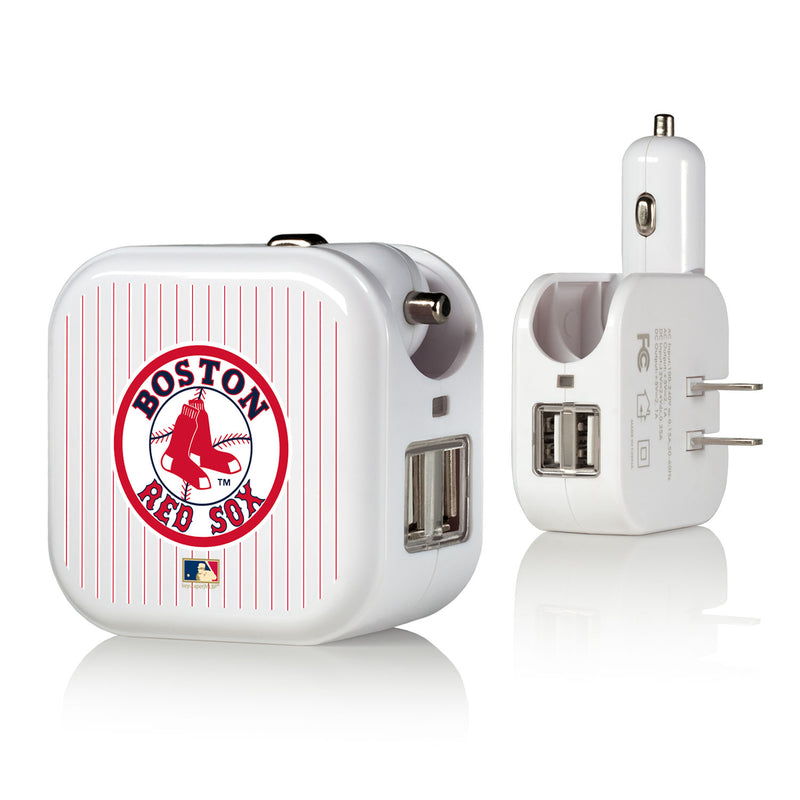 Boston Red Sox 1976-2008 - Cooperstown Collection Pinstripe 2 in 1 USB Charger
