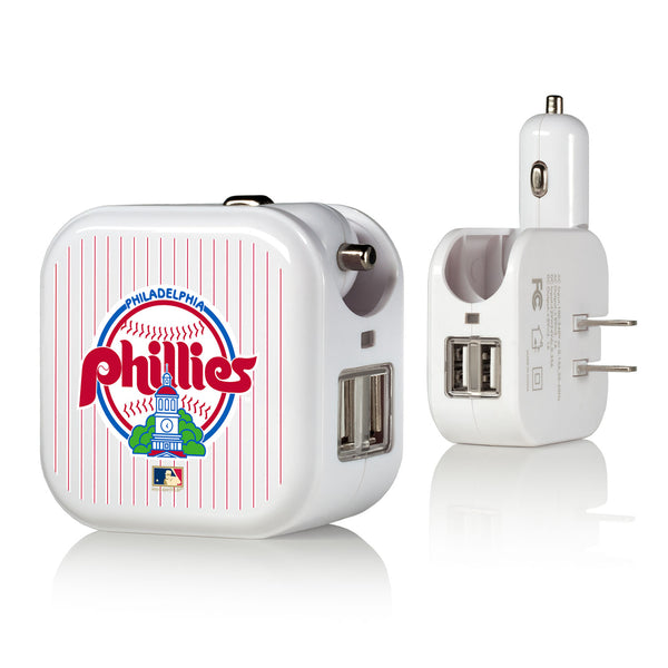 Philadelphia Phillies 1984-1991 - Cooperstown Collection Pinstripe 2 in 1 USB Charger