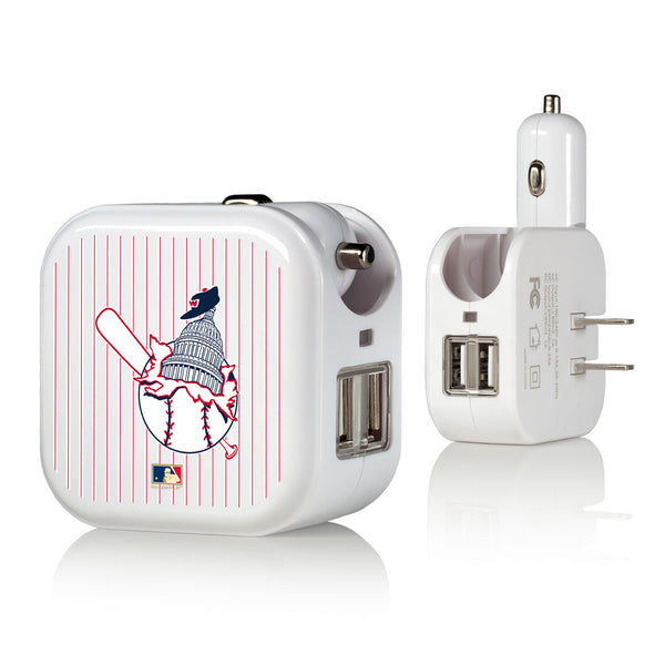 Washington Senators 1953-1956 - Cooperstown Collection Pinstripe 2 in 1 USB Charger