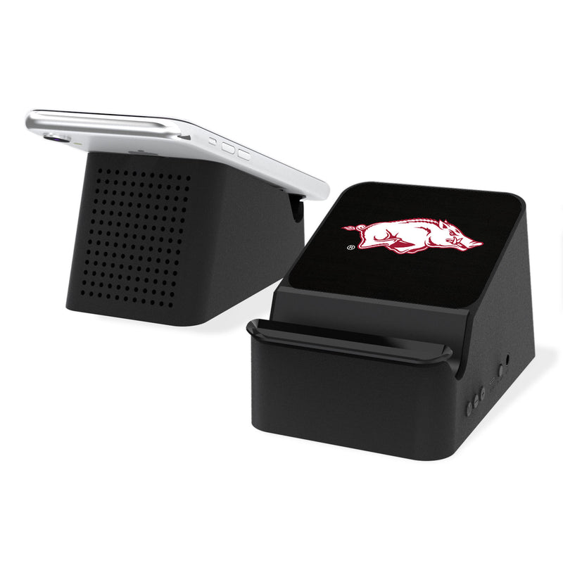 Arkansas Razorbacks Solid Wireless Charging Station and Bluetooth Speaker