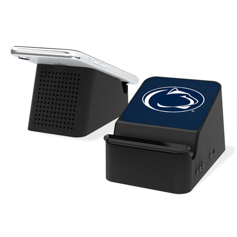 Penn State Nittany Lions Solid Wireless Charging Station and Bluetooth Speaker