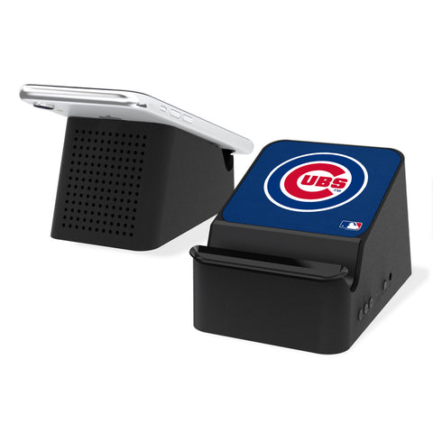 Chicago Cubs Cubs Solid Wireless Charging Station and Bluetooth Speaker