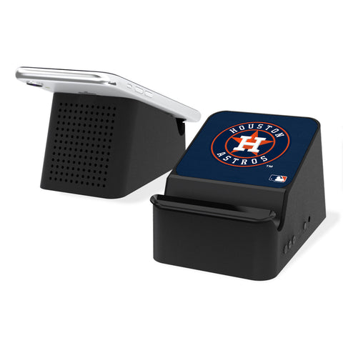 Houston Astros Astros Solid Wireless Charging Station and Bluetooth Speaker