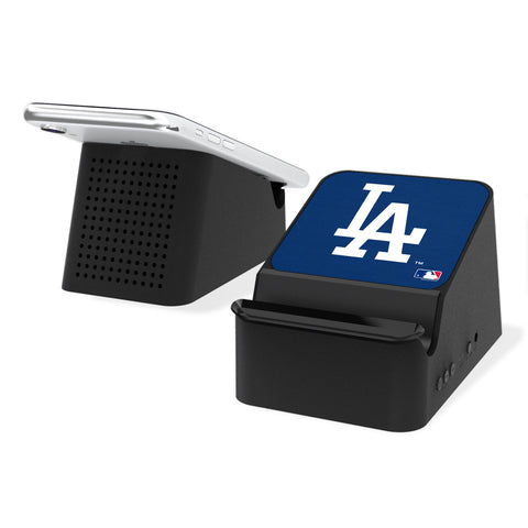 LA Dodgers Dodgers Solid Wireless Charging Station and Bluetooth Speaker