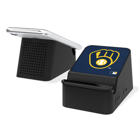 Milwaukee Brewers Brewers Solid Wireless Charging Station and Bluetooth Speaker
