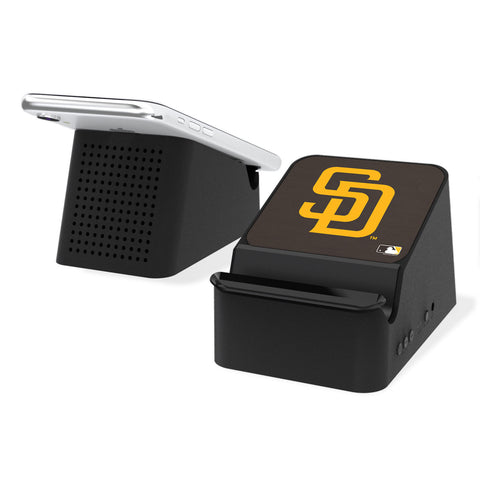 San Diego Padres Padres Solid Wireless Charging Station and Bluetooth Speaker