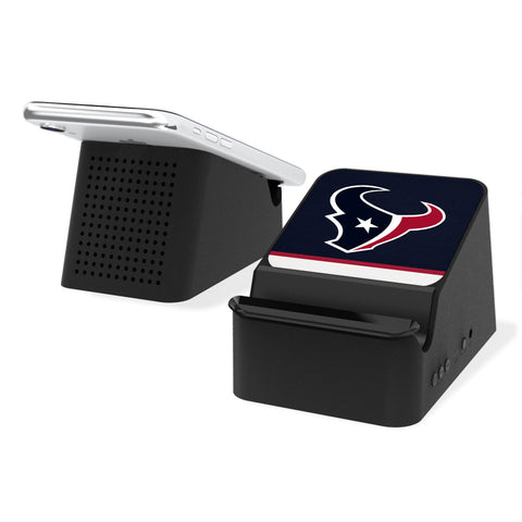 Houston Texans Stripe Wireless Charging Station and Bluetooth Speaker