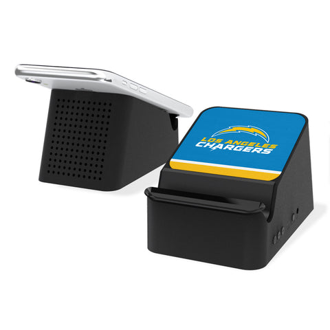 Los Angeles Chargers Stripe Wireless Charging Station and Bluetooth Speaker
