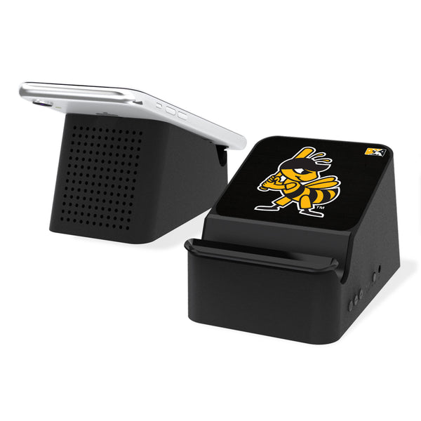Salt Lake Bees Solid Wireless Charging Station and Bluetooth Speaker