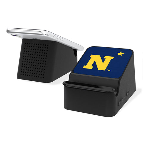 Naval Academy Midshipmen Solid Wireless Charging Station and Bluetooth Speaker
