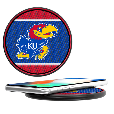 Kansas Jayhawks Mesh 10-Watt Wireless Charger
