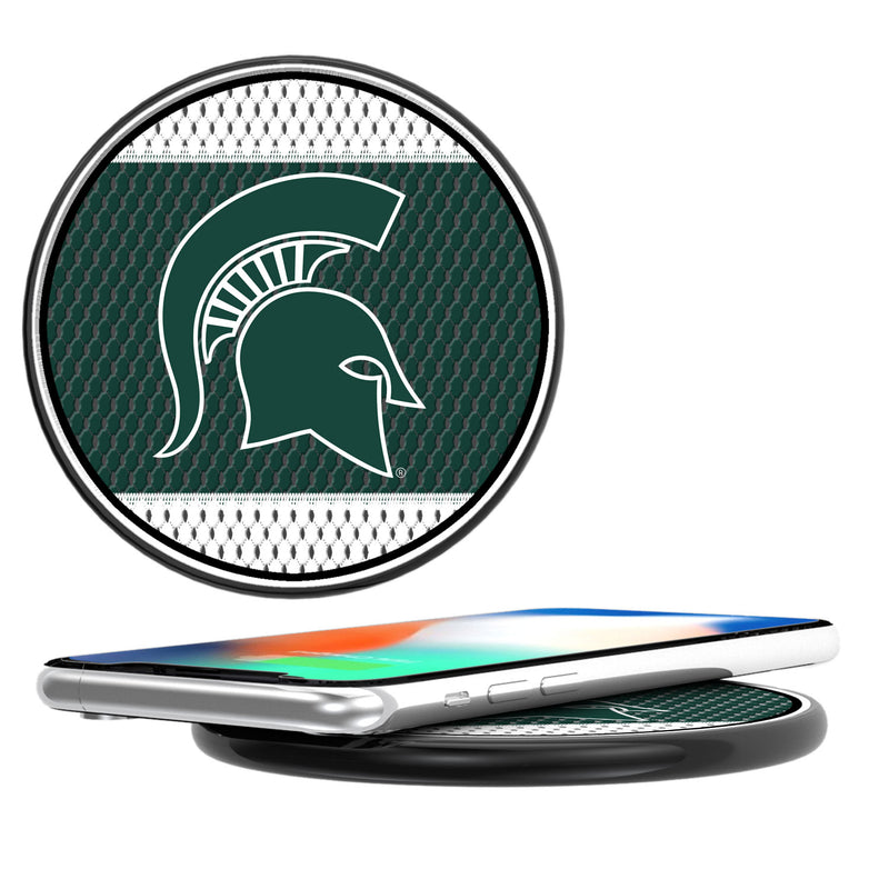 Michigan State Spartans Mesh 10-Watt Wireless Charger