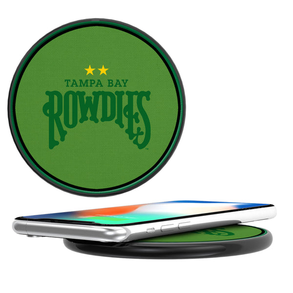 Tampa Bay Rowdies Diagonal Stripe 10-Watt Wireless Charger