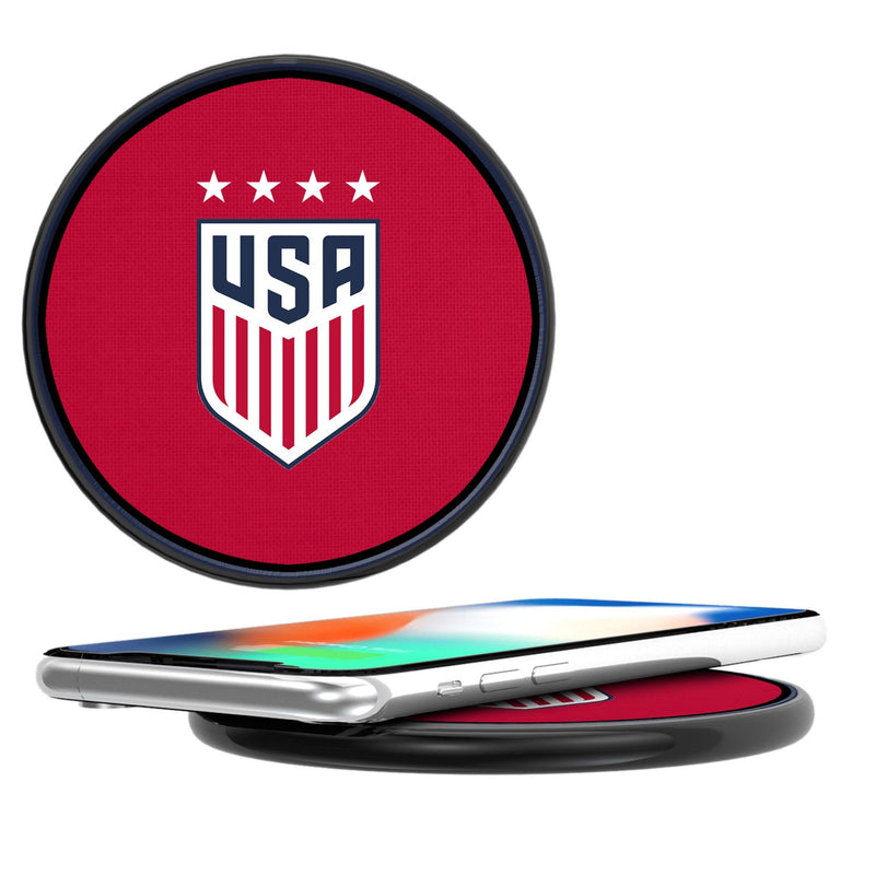 United States Womens National Team Diagonal Stripe 10-Watt Wireless Charger