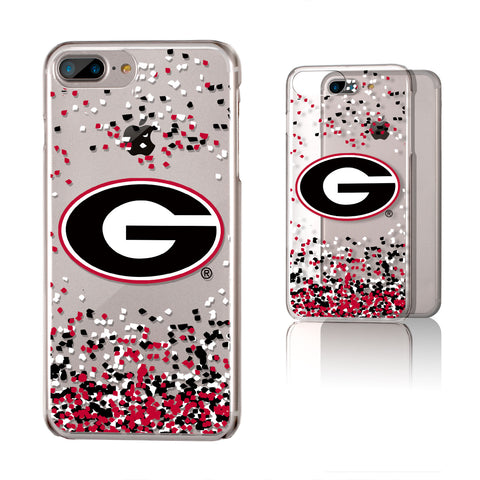 Georgia Bulldogs Confetti iPhone 7+ / 8+  Plus Clear Slim Case