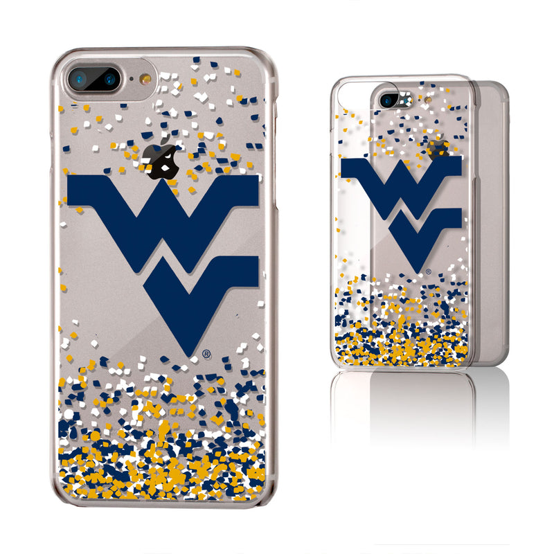 West Virginia Mountaineers Confetti iPhone 7+ / 8+ Plus Clear Slim Case