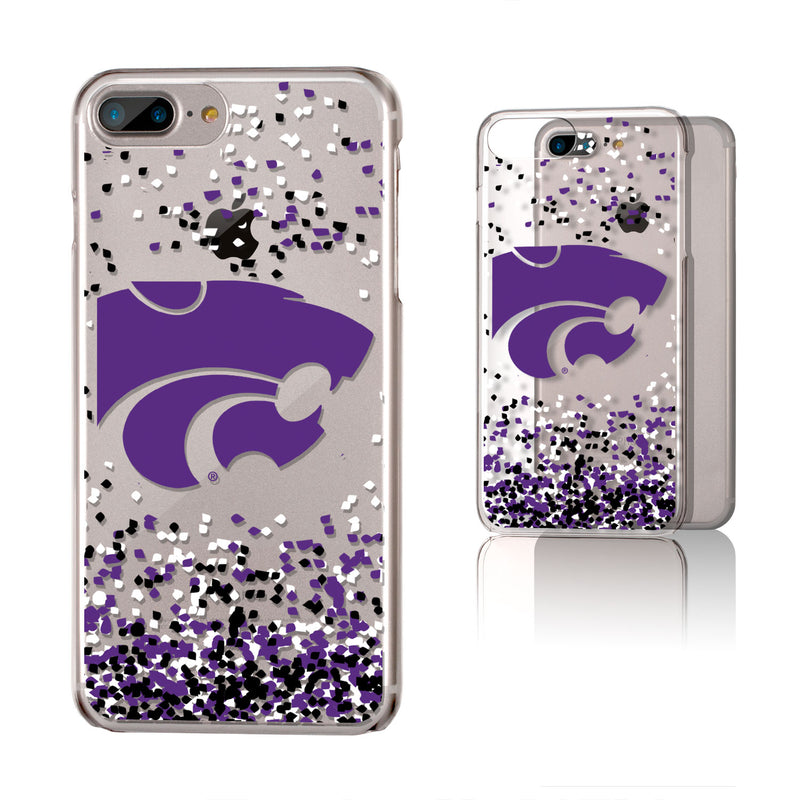 Kansas State Wildcats Confetti iPhone 7+ / 8+  Plus Clear Slim Case