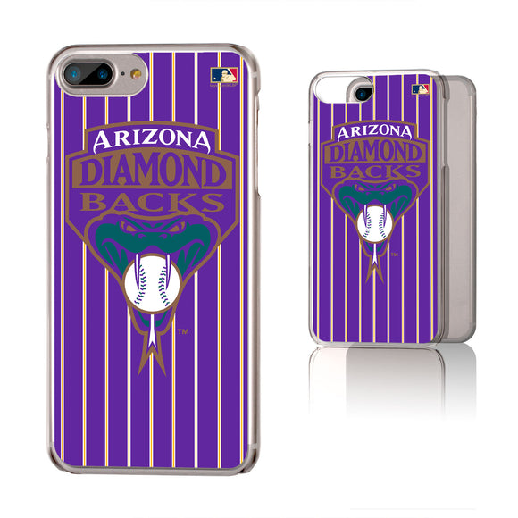 Arizona 1999-2006 - Cooperstown Collection Pinstripe iPhone 6+ / 7+ / 8+ Plus Clear Slim Case