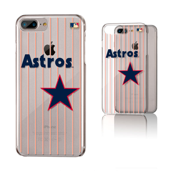 Houston Astros 1975-1981 - Cooperstown Collection Pinstripe iPhone 6+ / 7+ / 8+ Plus Clear Slim Case