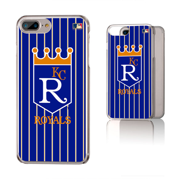 Kansas City Royals 1969-1978 - Cooperstown Collection Pinstripe iPhone 6+ / 7+ / 8+ Plus Clear Slim Case