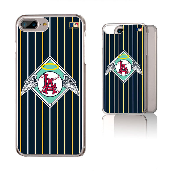LA Angels 1961-1965 - Cooperstown Collection Pinstripe iPhone 6+ / 7+ / 8+ Plus Clear Slim Case