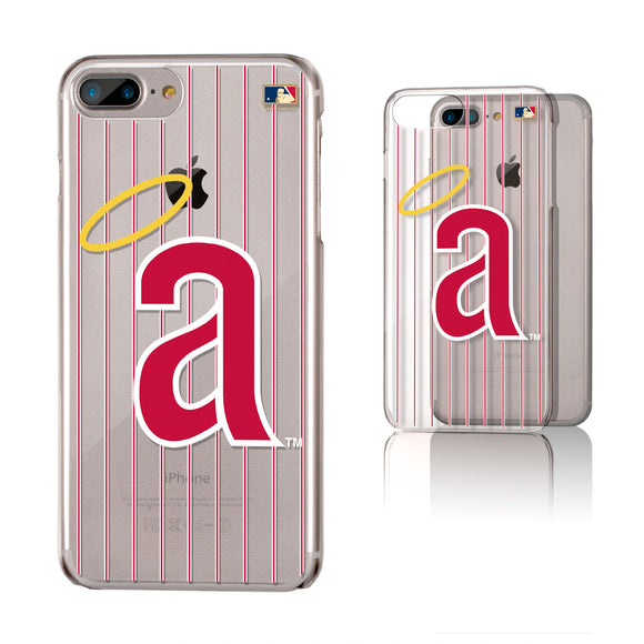 LA Angels 1971 - Cooperstown Collection Pinstripe iPhone 6+ / 7+ / 8+ Plus Clear Slim Case