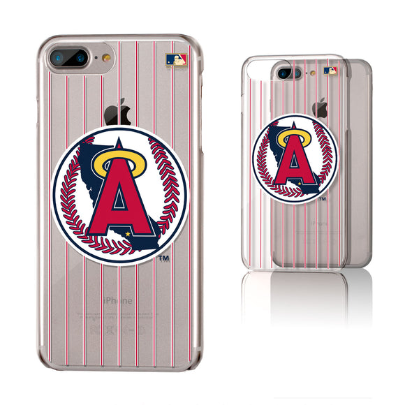 LA Angels 1986-1992 - Cooperstown Collection Pinstripe iPhone 6+ / 7+ / 8+ Plus Clear Slim Case