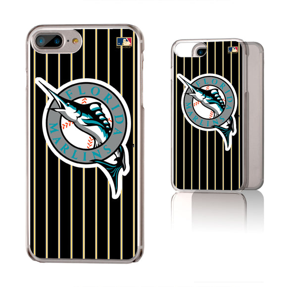 Miami Marlins 1993-2011 - Cooperstown Collection Pinstripe iPhone 6+ / 7+ / 8+ Plus Clear Slim Case