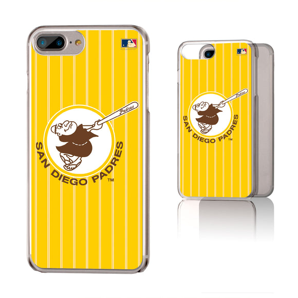 San Diego Padres 1969-1984 - Cooperstown Collection Pinstripe iPhone 6+ / 7+ / 8+ Plus Clear Slim Case