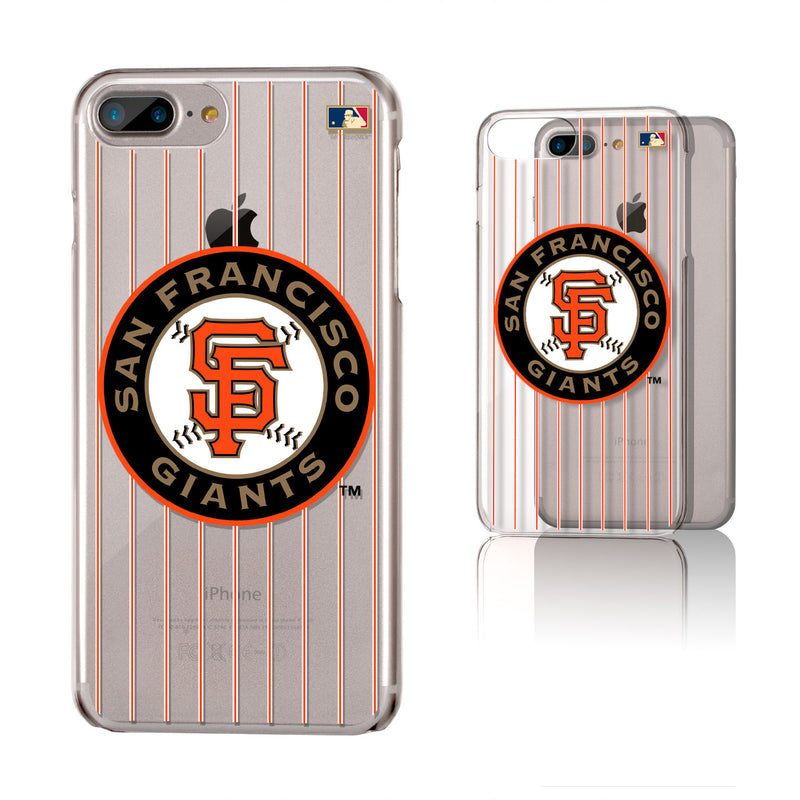 San Francisco Giants 2005-2010 - Cooperstown Collection Pinstripe iPhone 6+ / 7+ / 8+ Plus Clear Slim Case