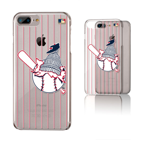 Washington Senators 1953-1956 - Cooperstown Collection Pinstripe iPhone 6+ / 7+ / 8+ Plus Clear Slim Case