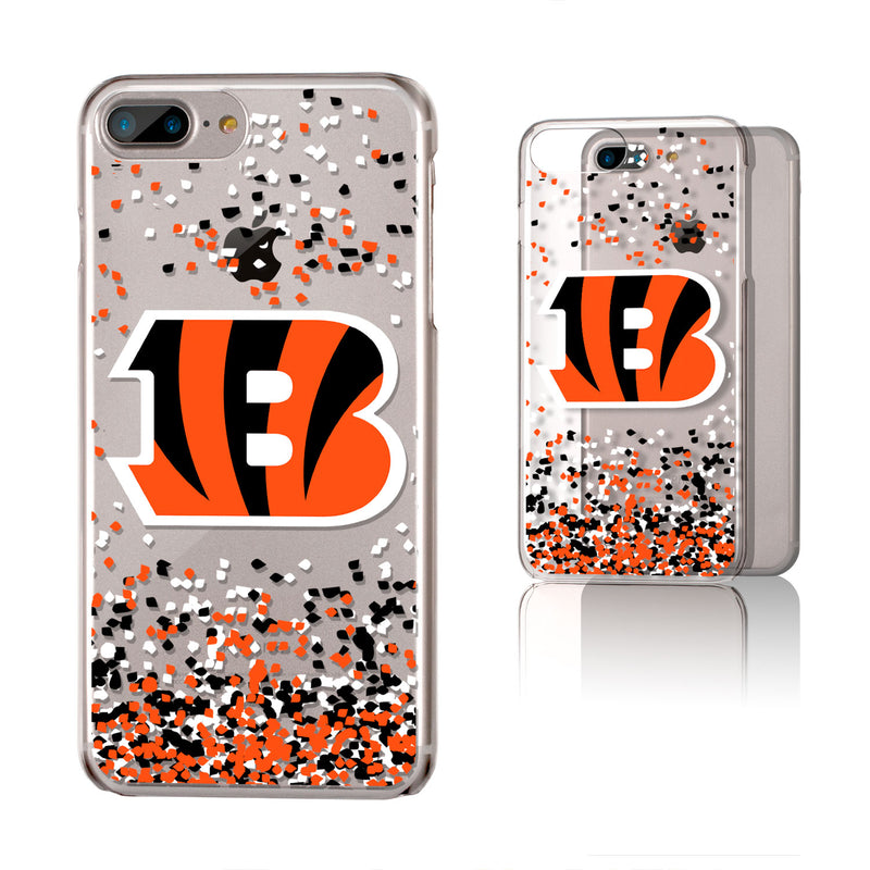 Cincinnati Bengals Confetti iPhone 7+/ 8+ Plus Clear Slim Case