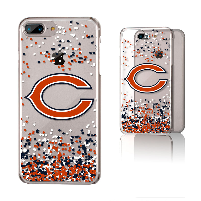 Chicago Bears Confetti iPhone 6+ / 7+ / 8+ Plus Clear Slim Case