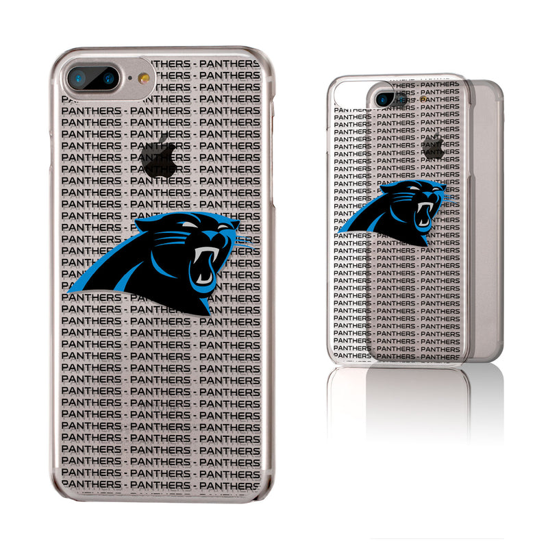 Carolina Panthers Blackletter iPhone 6+ / 7+ / 8+ Plus Clear Slim Case