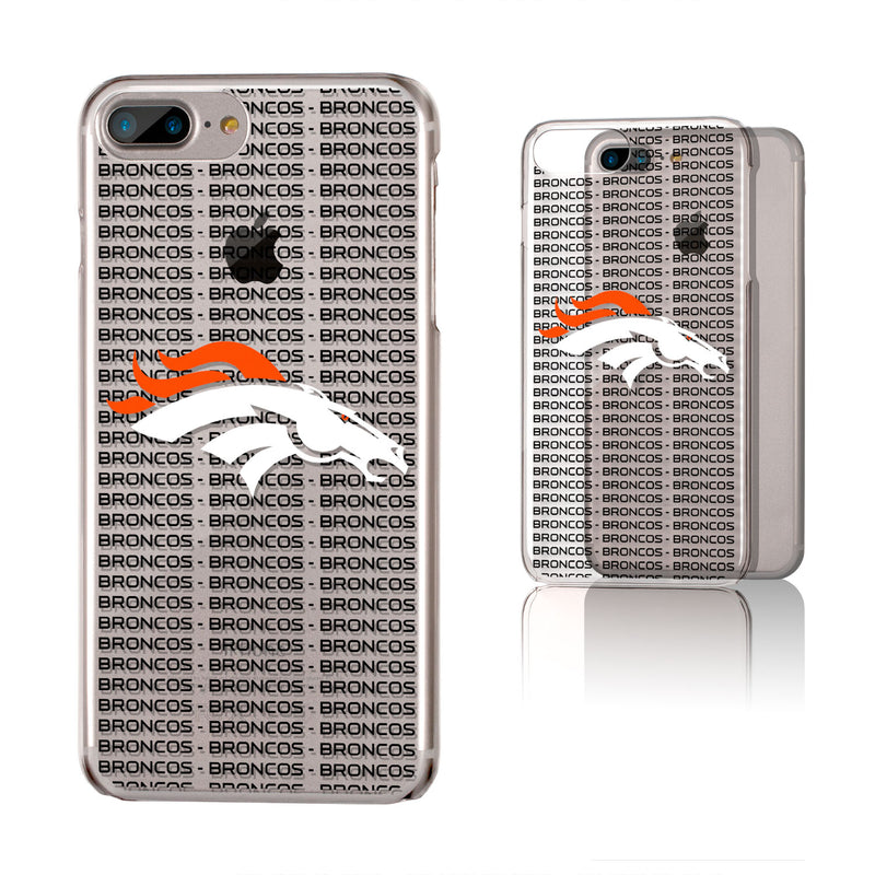 Denver Broncos Blackletter iPhone 6+ / 7+ / 8+ Plus Clear Slim Case
