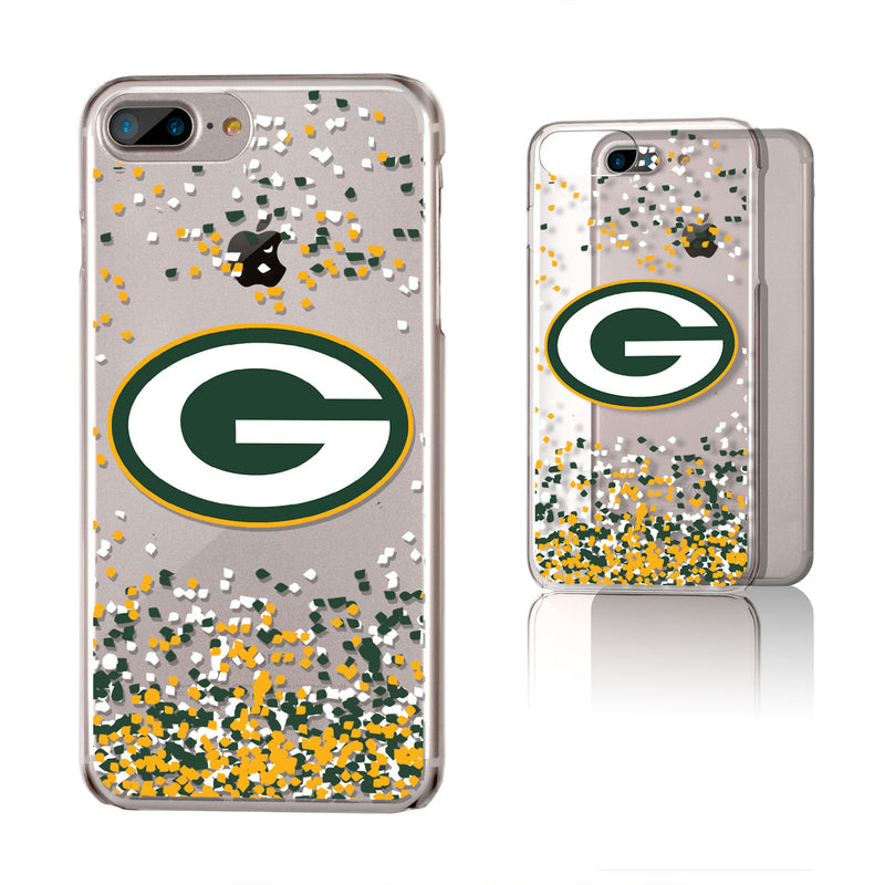 Green Bay Packers Confetti iPhone 6+ / 7+ / 8+ Plus Clear Slim Case