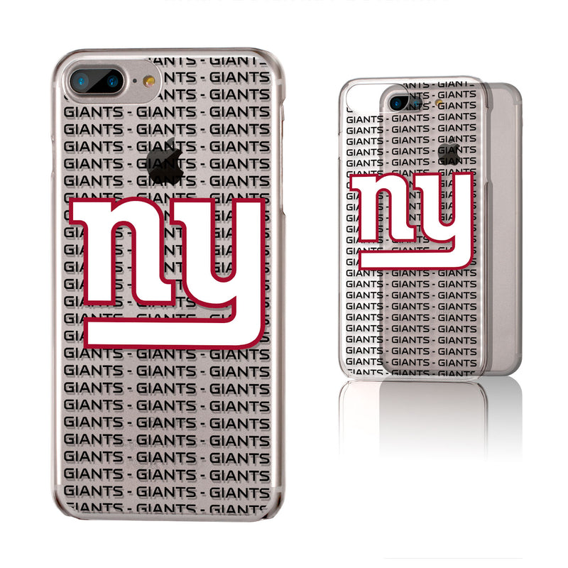 New York Giants Blackletter iPhone 6+ / 7+ / 8+ Plus Clear Slim Case