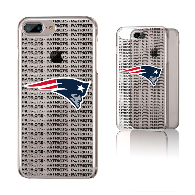 New England Patriots Blackletter iPhone 6+ / 7+ / 8+ Plus Clear Slim Case